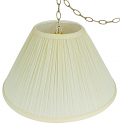 "Coolie Mushroom Pleated Swag Lamp 16-24""W"