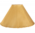 "Coolie Sheep Skin Leather Lamp Shade 16-24""W"