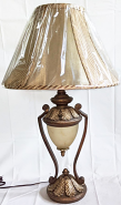 """Crackle Scavo Glass Lamp 27""""H"""
