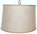 "Ivory Burlap Drum Swag lamp 16""W"