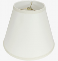 "Smooth Linen Fabric Lamp Shade Cream or White 11-18""W"