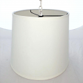 "Cream Linen Drum Swag lamp 13""W"