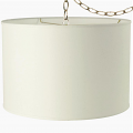 "Wholesale Cream or White Linen Drum Swag Lamp 15""W"