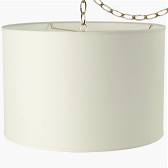 """Cream Linen Drum Swag lamp 13""""W"""