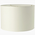 "Wholesale Shallow Drum Lamp Shades Cream or White 15""W"