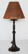 Custom Bronze Lamp & Rust Metal Shade