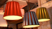 Custom Pleated Pendant Light Shade