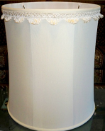 Custom Drum Lamp Shade Scallop Fringe