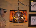 "Custom Mica Drum Pendant Light of Customer's Pet Dog 16-19""W"