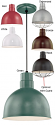 "Deep Bowl Pendant Light w/Cord 6 Colors Indoor-Outdoor 10-12""W - Sale !"