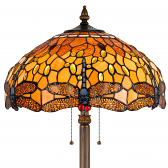 "Dragonfly Tiffany Floor Lamp 63""H - Sale !"
