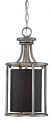 "Jackson Brushed Pewter Pendant Light Black Drum Shade 8""Wx18""H"