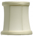 "Bell Drum Chandelier Lamp Shade Cream or White 4""W"