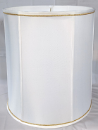 """Drum Lamp Shade w/Small Gold Trim 10-18""""W"""