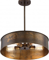 "Kettle Weathered Brass Drum Pendant Light 20""Wx41""H"
