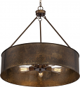 "Kettle Weathered Brass Drum Pendant Light 30""Wx28""H"