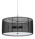 "Sheer Black Drum Pendant Light 18""W - Sale !"