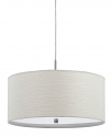"Casual White Drum Pendant Light 18""W"