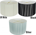 "Drum Silk String Lamp Shade Off White, Black, Silver 12-18""W"
