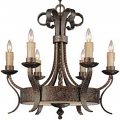 "El Paso Tortoise Shell Wrought Iron Chandelier 28""Wx28""H - Sale !"
