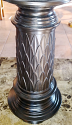 "Bronze Cast Iron Table Lamp Embossed Leaves Drum Shade USA Made 28""H - Sale"