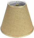 "Empire Burlap Lamp Shade 8-18""W"
