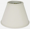 "Homespun Linen Empire Lamp Shade 12-16""W - Sale !"