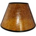 """Empire Mica UNO Lamp Shade Amber, Silver 12""""W"""