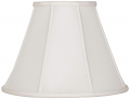 "Empire Silk Lamp Shade Cream, White, Black, Beige 8-20""W"
