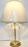 """Empty Glass Lamp for Seashells & Collectibles 19""""H"""