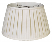 "English Pleated Silk 6 Way Floor Lamp Shade Cream, White 17-19""W"