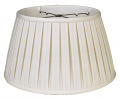 "English Pleated Silk Floor Lamp Shade Cream, White 17-19""W"