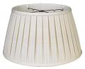 "English Pleated Silk Floor Lamp Shade Cream, White 17-19""W"