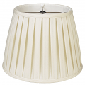 "English Pleated Silk Empire Lamp Shade Cream, White 10-20""W"