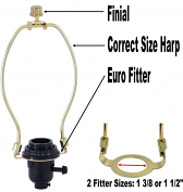 Euro Lamp Shade Adapter Kit