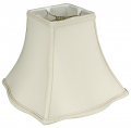 "Fancy Square Bell Silk Lamp Shade Cream or White 8-20""W"