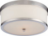 "Celine Nickel Flush Ceiling Light Drum Shade14""Wx6""H"