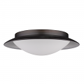 "Aurora LED ORB Bronze Glass Shade Flush Ceiling Light 12""Wx3""H"