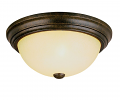 "Burnished Gold Flush Ceiling Light Scavo Glass 15""Wx5""H"