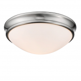 "Brushed Nickel Flush Ceiling Light Scavo Glass 12""Wx5""H"