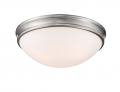 "Brushed Nickel Flush Ceiling Light Scavo Glass 14""Wx5""H"