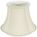 "French Oval Silk Lamp Shade 8-20""W"