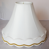 "Gallery Bell Victorian Lamp Shade w/Braided Trim 8-20""W"