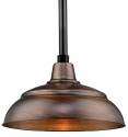 "Genuine Copper Pendant Light Indoor-Outdoor 14-17""W"