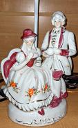 "Small George Martha Washington Lamp 19""H"