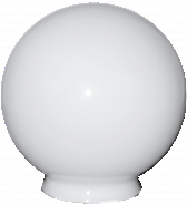 "6"" White Ball Glass Lamp Shade 3.25"" Fitter"