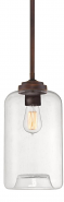 "Clear Jar Glass Mini Pendant Light 7""W"