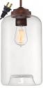 """Clear Glass Jar Mini Plug In Pendant Light 7""""W"""