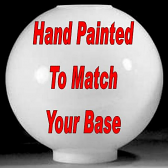 Custom Painted Glass Lamp Shade To Match Your Base