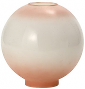 """10""""W Pink Tinted Ball Glass Lamp Shade"""